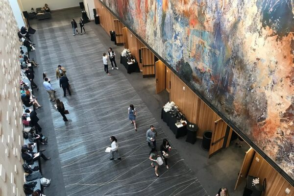 art mural at the AT&T Executive Education and Conference Center
